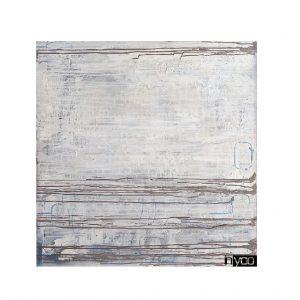 Abstract-original הדפס קנבס עם משיכות חומריות של טקסטורה בהירה עם נגיעות עדינות של צבע