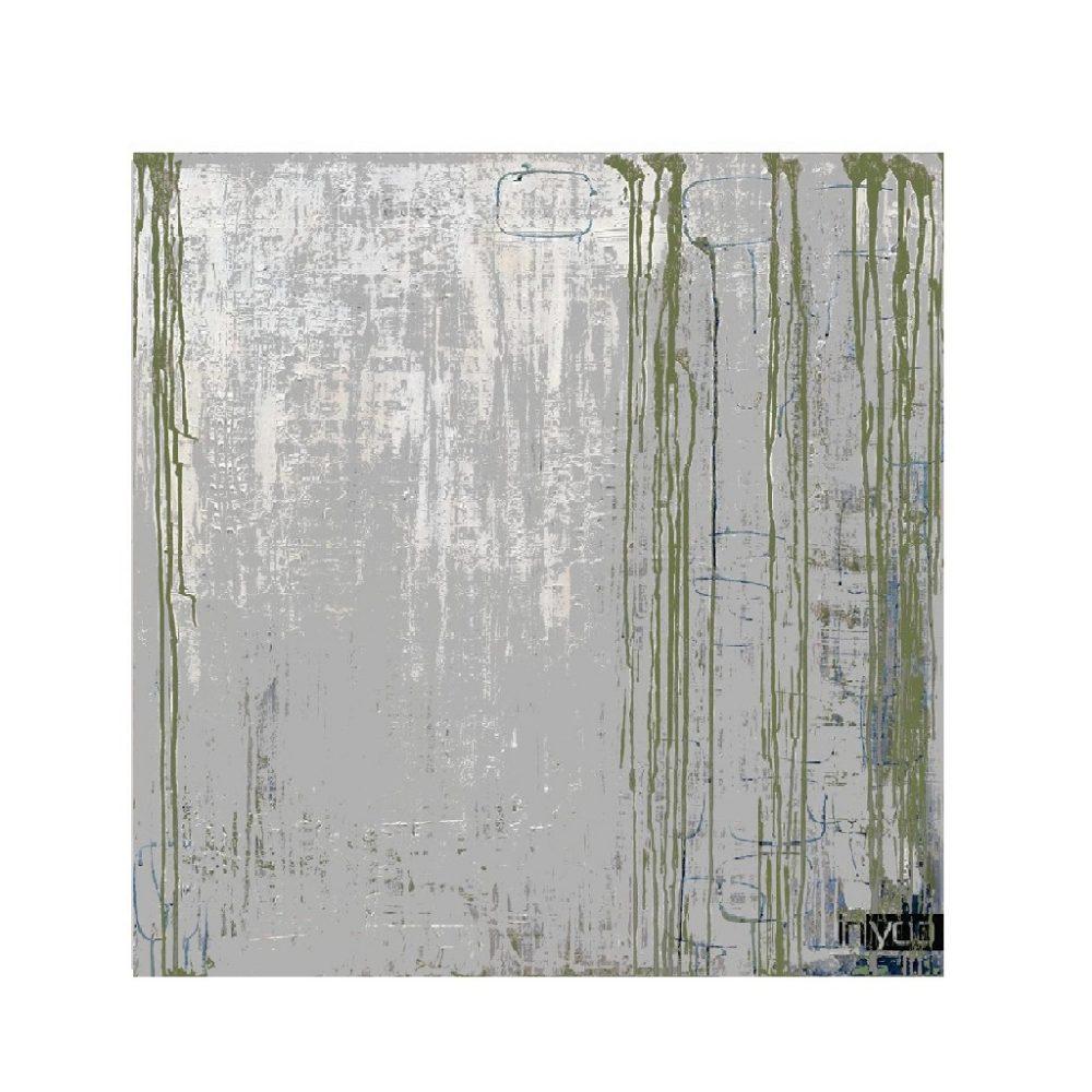Grey abstract הדפס קנבס אבסטרקטי אפור וירקרק