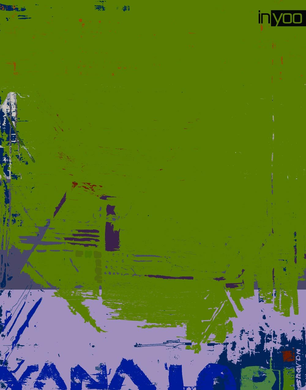 colorful-plaster- עבודה אבסטרקטית צבעונית מיצירותיה של המעצבת שרון גולן