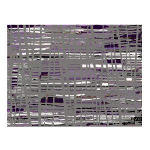 מחווה לחברת פנטון על הגוון הנבחר לשנת 2018 ציור אבסטרקט של שרון גולן באפור וסגול