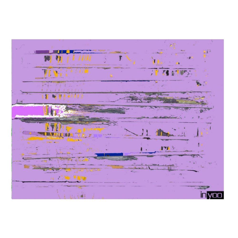 ציור שנקרא violet 1 והוא בגוון סגול בהיר עם טקסטורה במראה כללי אבסטרקטי מתוך קולקציית היצירות של שרון גולן