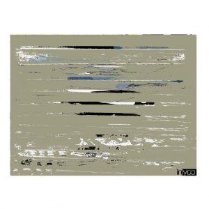 Beige-field הדפס קנבס של שרון גולן רקע בז' עם נגיעות לבן שחור וכחול